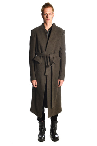 Green Camelwool Shawlcollar Coat