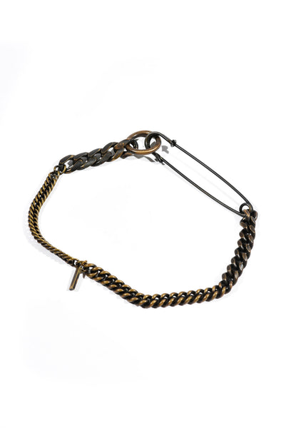 Safetypin Choker Silver or Brass