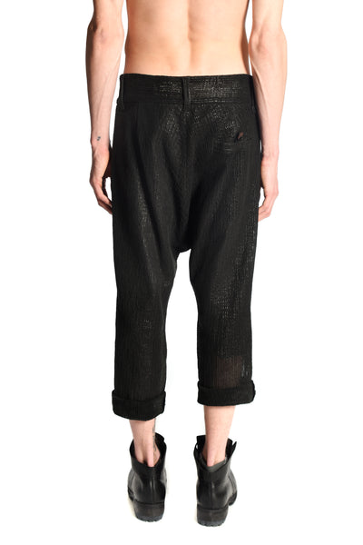 Leather Perforated Decoup Pants