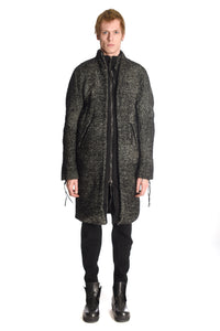 Alpaca Padded Long Cut Zipped Coat