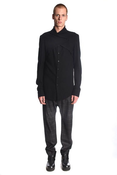 Splitfront wool shirt
