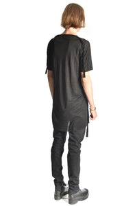 Sidetaped T-Shirt — black tape
