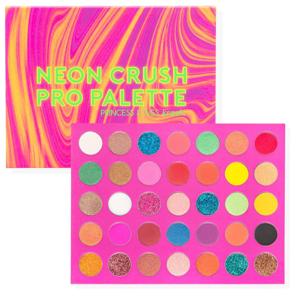 Paleta de Sombras Neon Crush PRO Palette - You Are The Princess x Krash Kosmetics -