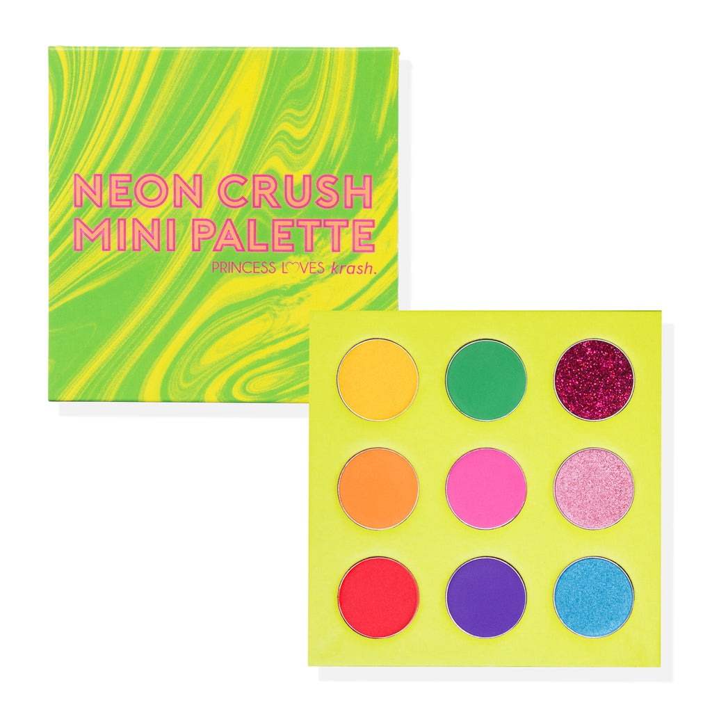 Paleta de Sombras Neon Crush Mini Palette - You Are The Princess x Krash Kosmetics -