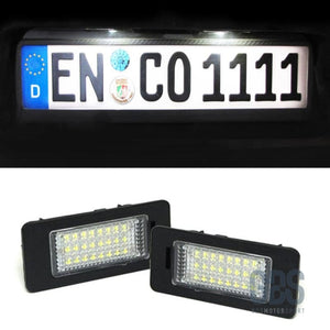 2 Modules éclairage de plaque d'immatriculation 24 LED's BMW