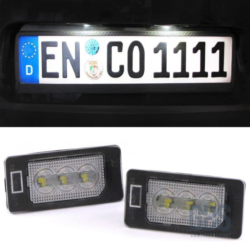 2 Modules LED éclairage de plaque d'immatriculation BMW Technologie CSP