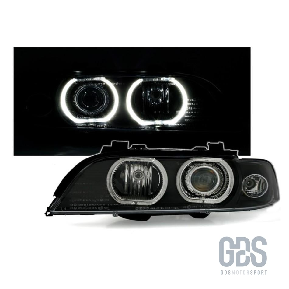 Phares Angel Eyes LED BLANC BMW Série 5 E39 Phase 1 Xenon D2S/ H7