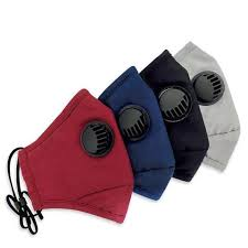 Children & Adults Cotton Face Bandanas with Breathing valve + Activated Carbon Filter