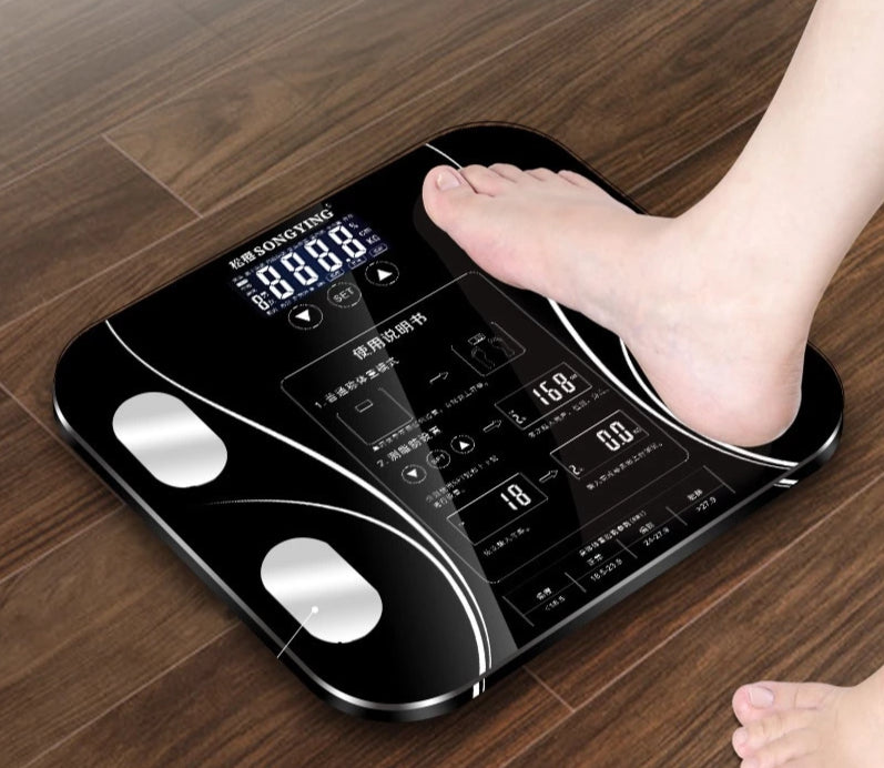 400LBS Digital LCD Glass STEP ON Fitness Bathroom Weight Body Scale,Purple
