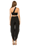 Jennifer Hope Clothing Silk Lili Side Slit Pants in Black