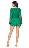 Jennifer Hope Clothing Jax Silk High Waisted Shorts in Kelly Green