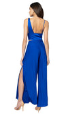 Jennifer Hope Clothing silk Adriana openside pant bottom in cobalt blue