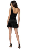 Jennifer Hope Clothing Lizzie Silk Ruffle Mini Skirt in Black