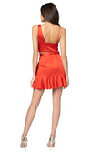 Jennifer Hope Clothing Lizzie Silk Ruffle Mini Skirt in Red Tomato