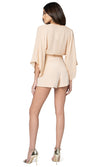 Jennifer Hope Clothing Jax Silk High Waisted Shorts in Nude