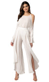 Jennifer Hope Clothing silk Adriana openside pant bottom in white