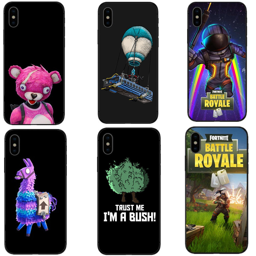 fortnite battle royale unicorn pink bear black soft silicone tpu phone cases cover for iphone x - fortnite cover iphone se