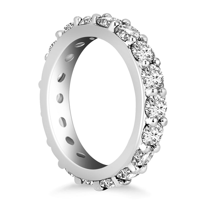 14k White Gold Round Cut Diamond Eternity Ring