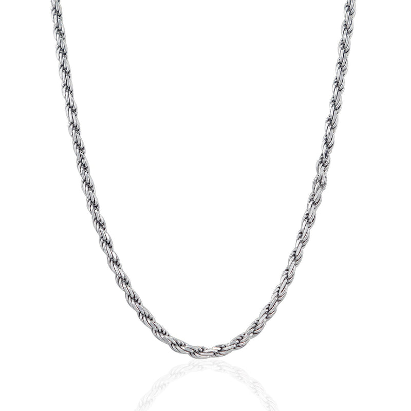 Sterling Silver 3.6mm Diamond Cut Rope Style Chain