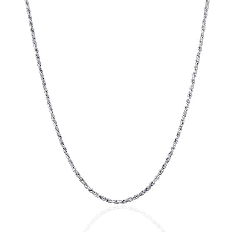 Sterling Silver 1.8mm Diamond Cut Rope Style Chain