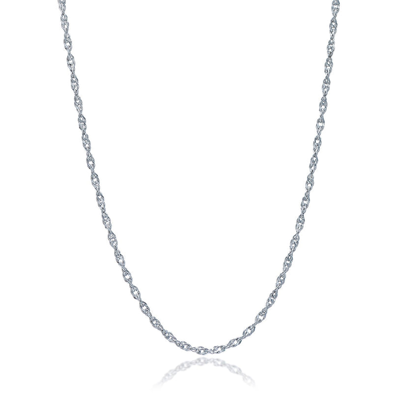 Sterling Silver 2.0mm Singapore Style Chain