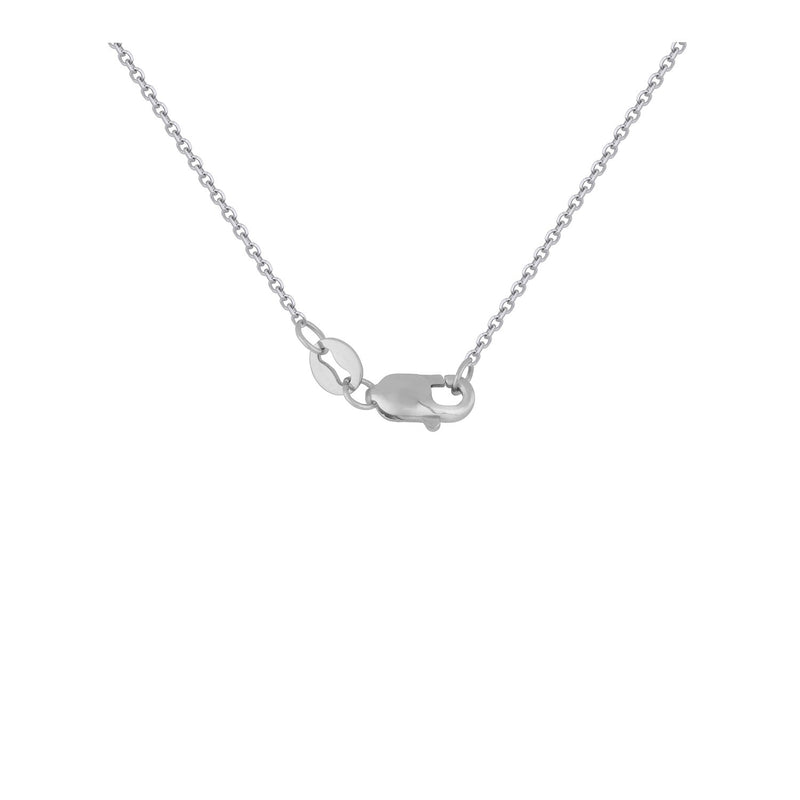 Double Infinity Diamond Pendant in 14k White Gold