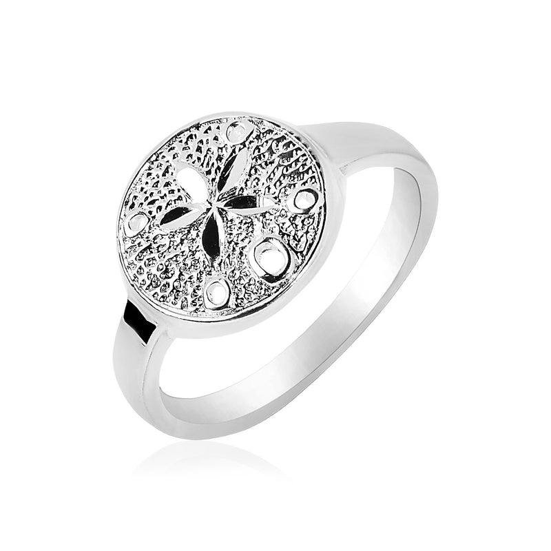 Sterling Silver Textured Sand Dollar Ring