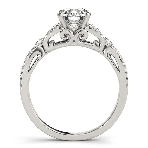 14k White Gold Diamond Engagement Ring with Multirow Split Shank (1 1/4 cttw)