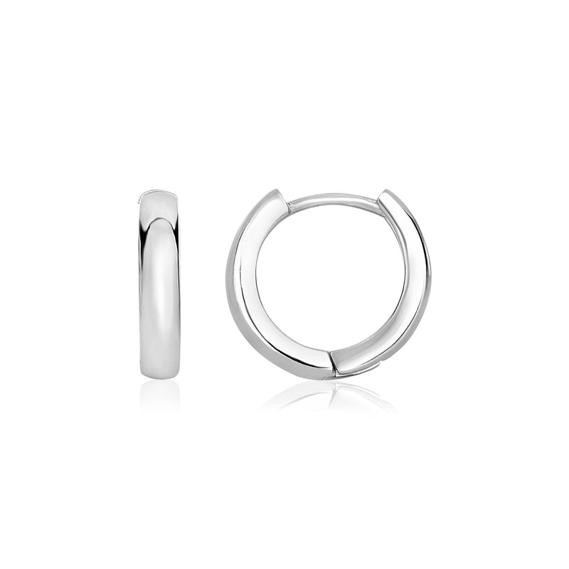 Sterling Silver Narrow Polished Hoop Earrings
