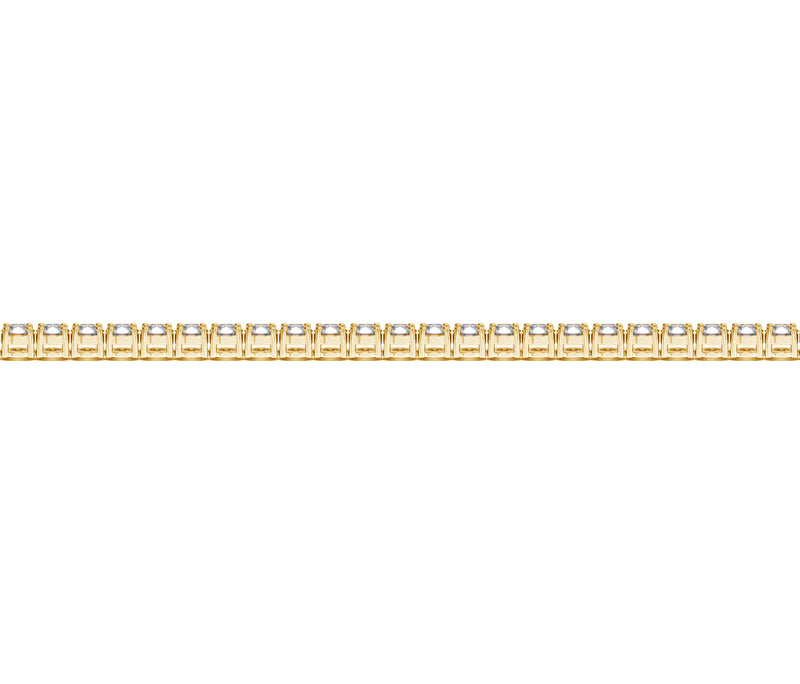 14k Yellow Gold Round Diamond Tennis Bracelet (2 cttw)