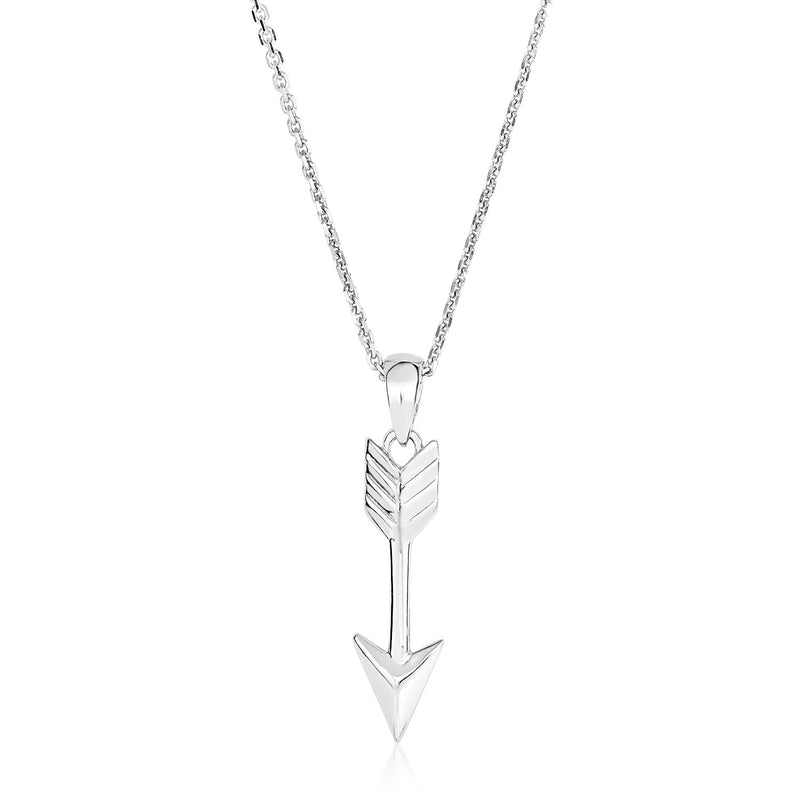 Sterling Silver 18 inch Necklace with Arrow Pendant