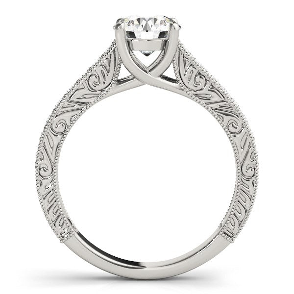 14k White Gold Trellis Antique Style Diamond Engagement Ring (1 1/4 cttw)