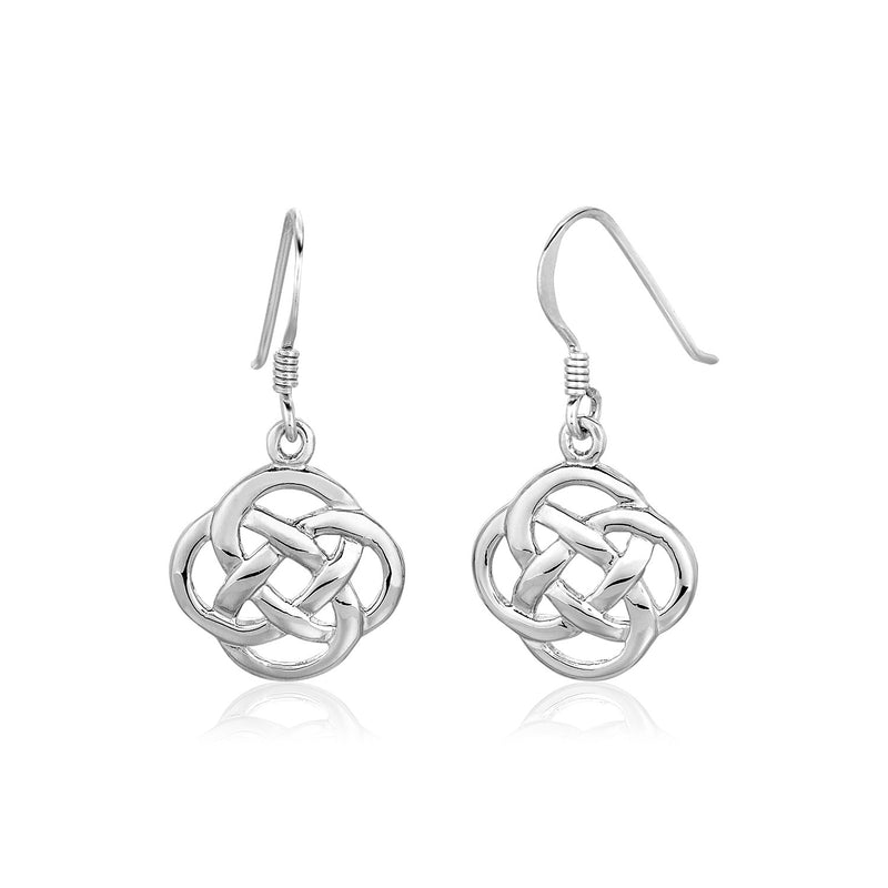 Sterling Silver Polished Celtic Knot Earrings