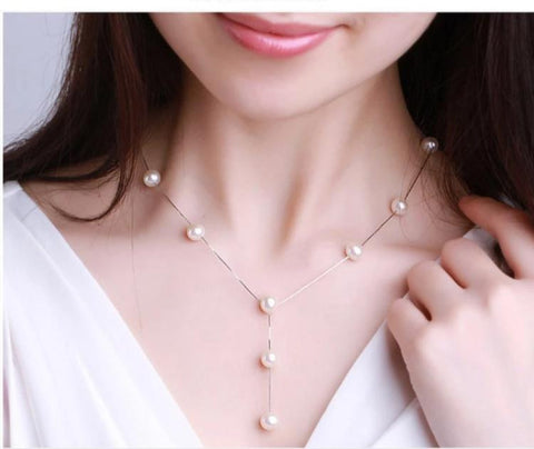 Simulated Pearl Fashion Jewelry Set For Women Girl Wedding Statement Necklace Earrings And Bracelet Set Party Jewellery 2019-Artemis Attire