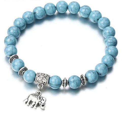 Bracelet Classic Acrylic Blue Beaded Bracelets for Men Women Best Friend Hot popular-Artemis Attire