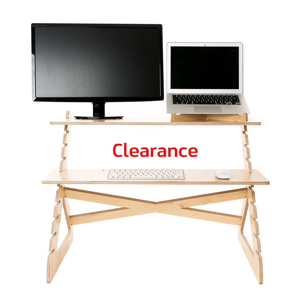 Clearance-Readydesk 2-with laptop stand