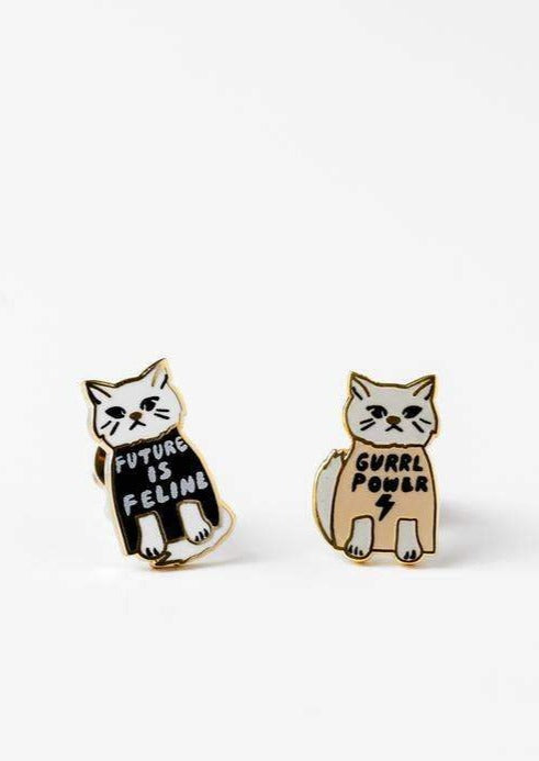 Girl Power Feline Earrings