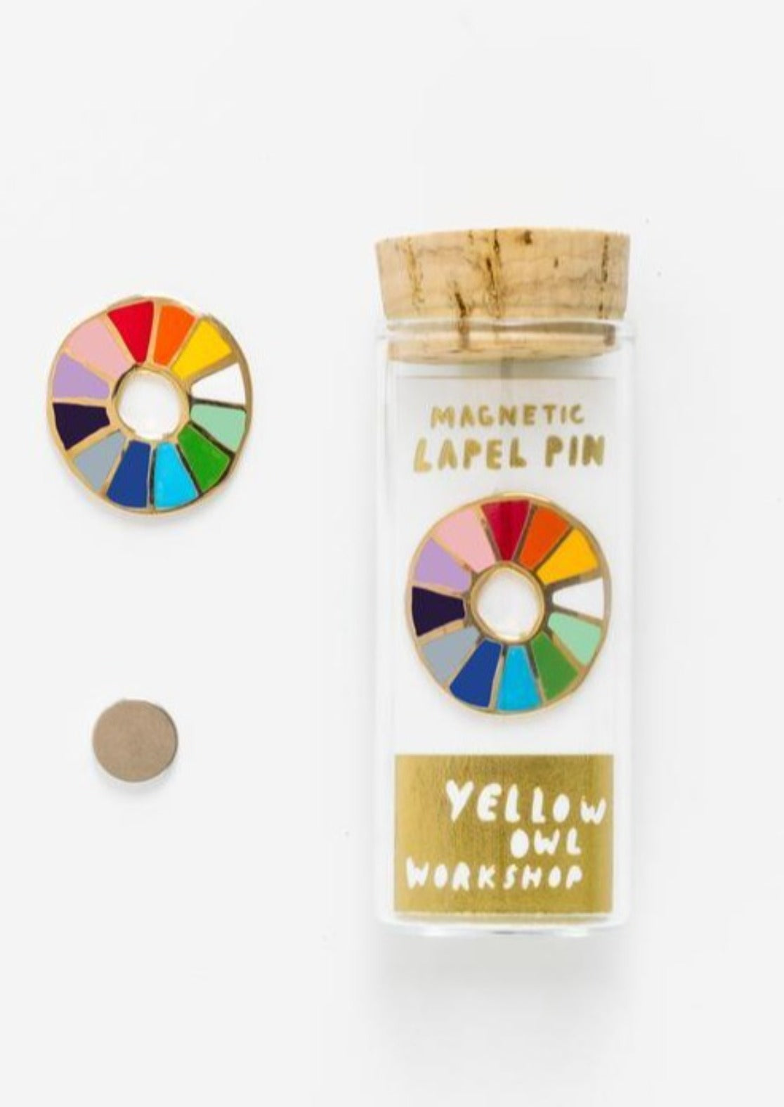 Color Wheel Enamel Pin