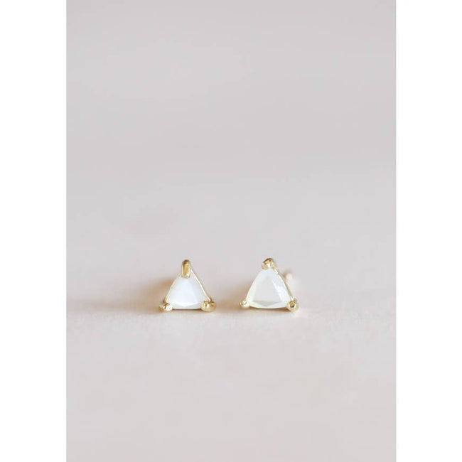 Mother of Pearl Mini Energy Gem Earrings