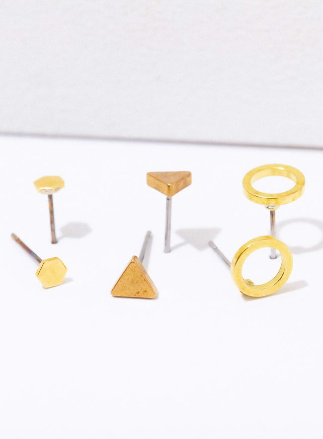Geometric Earrings 3 Pack
