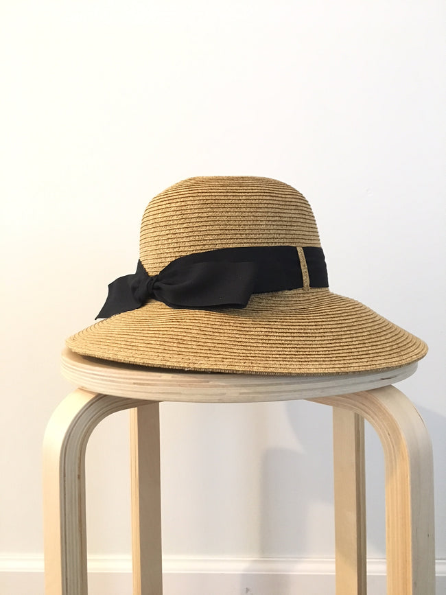 The Ali Banded Bow Straw Hat