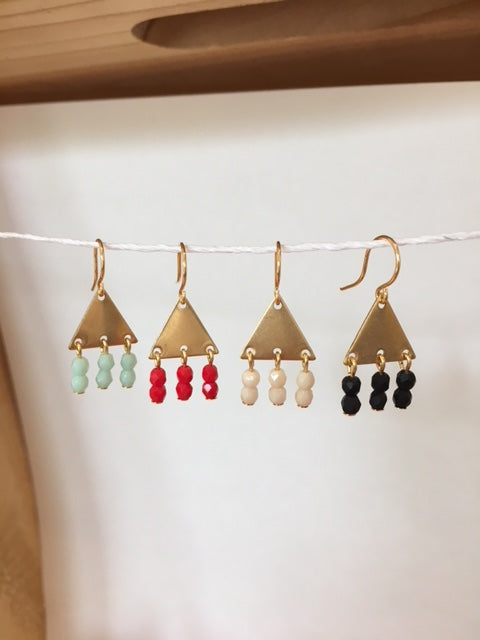 Triangle Beaded Earrings