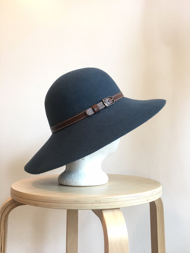 Wide Brim Wool Felt Hat Made in USA in Teal