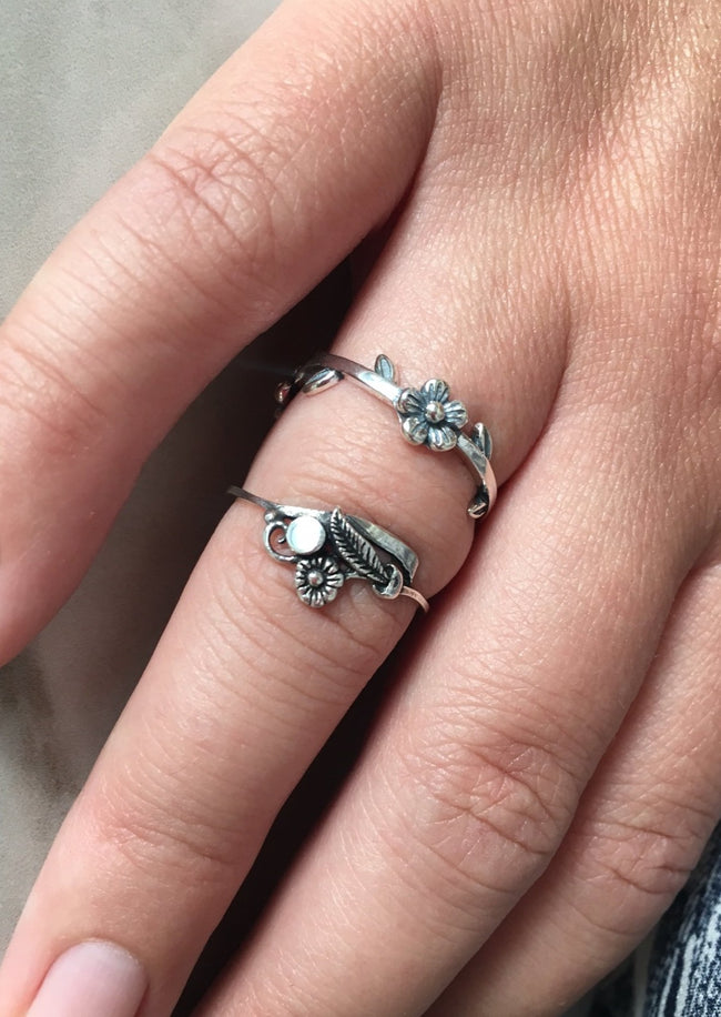 Dainty Bouquet Sterling Silver Ring