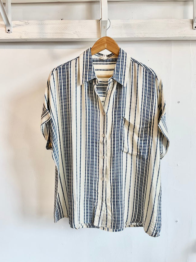 Lucy Striped Tassel Scarf