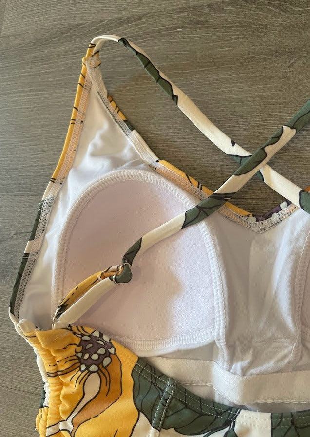 Mixed Waffle Knit Top in Rust