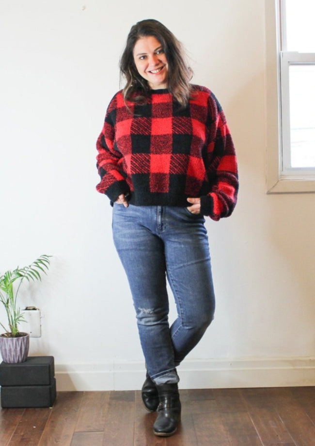 Red Buffalo Check Sweater