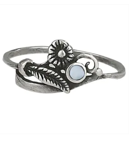 Ocean Wave Sterling Silver Ring