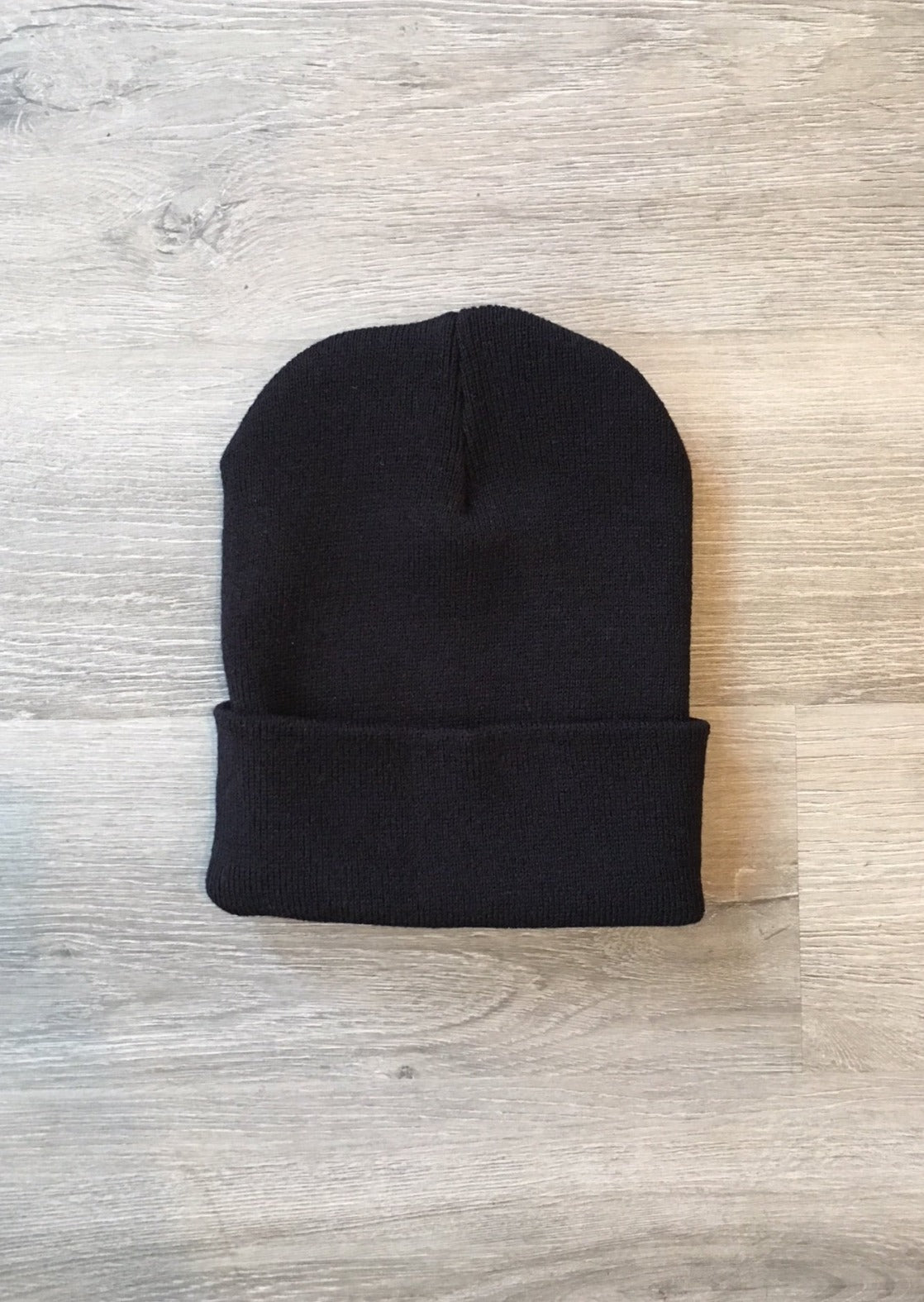 Made in USA Classic Cuffed Beanie Unisex Black