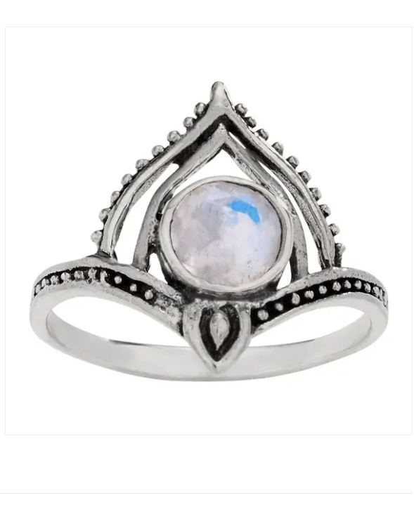 Moonstone Pinnacle Sterling Silver Ring